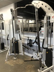 A Hoist Functional Trainer with various attachments.