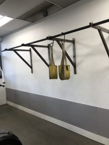 3 Pullup bars with a pair of Hanging Leg Raise straps