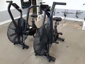 A picture of 2 Rogue Echo Bikes side by side.